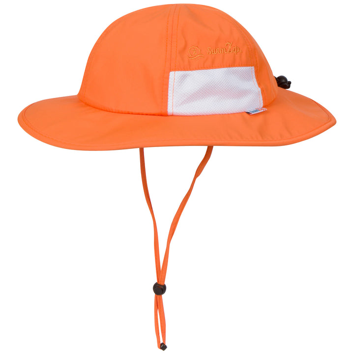 "Kid's Wide Brim Sun Hat ""Fun Sun Day Play Hat"" - Orange - SwimZip Sun Protection Swimwear"