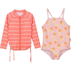 toddler rash guard bathing suit set