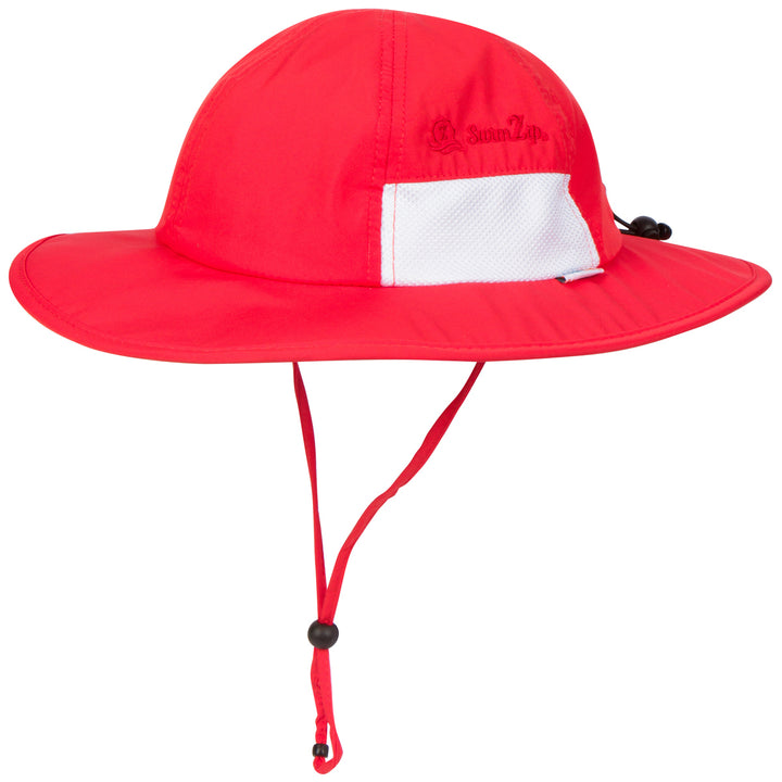 "Kid's Wide Brim Sun Hat ""Fun Sun Day Play Hat"" - Red - SwimZip Sun Protection Swimwear"