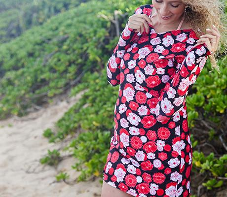 "The Sophisticated Swim Cover Up - ""Rosemary Beach"""