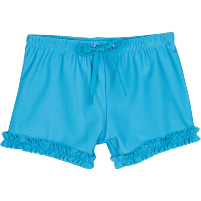 girl aqua swim shorts modest ruffle swimzip