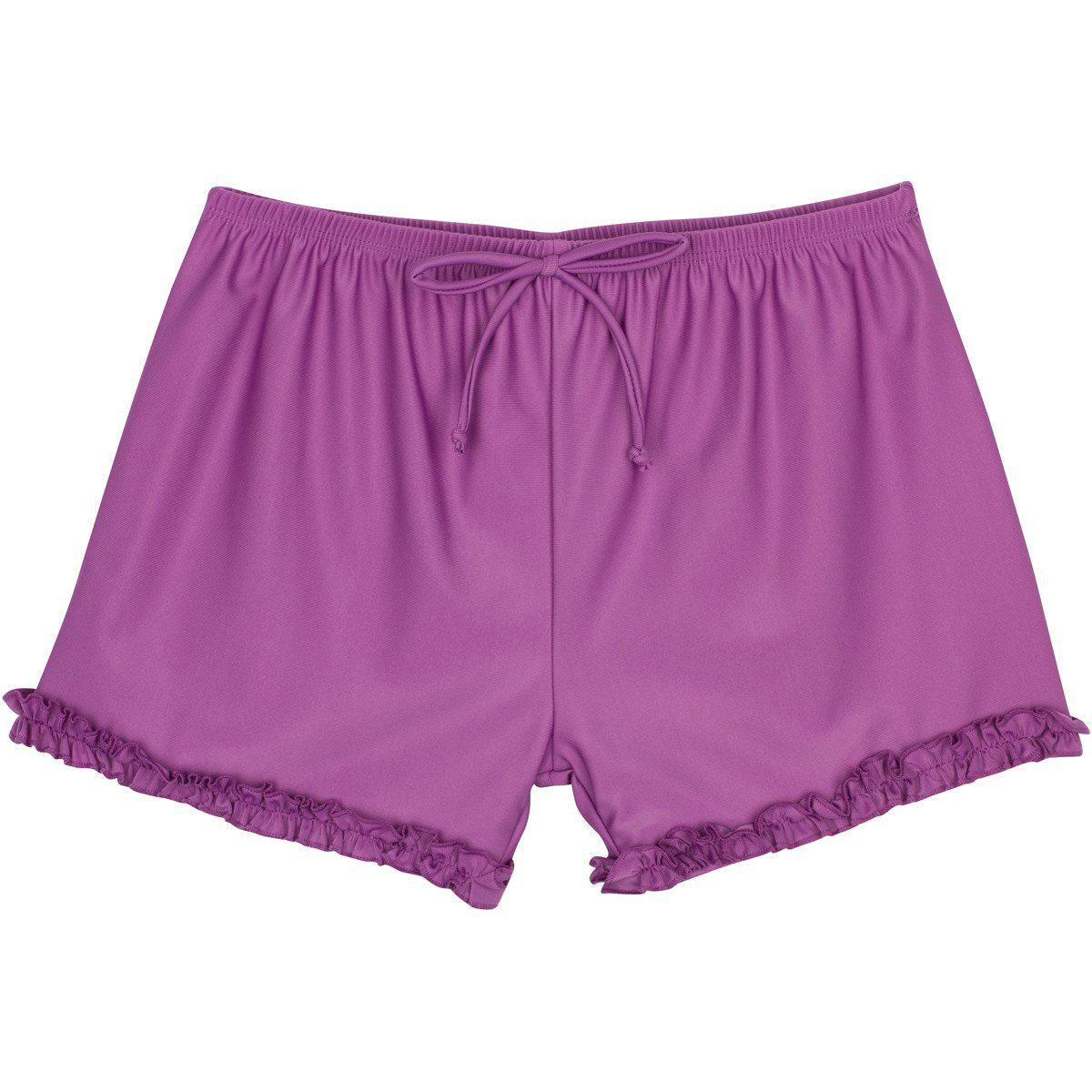 modest girl swim shorts purple uv sun protection swimzip