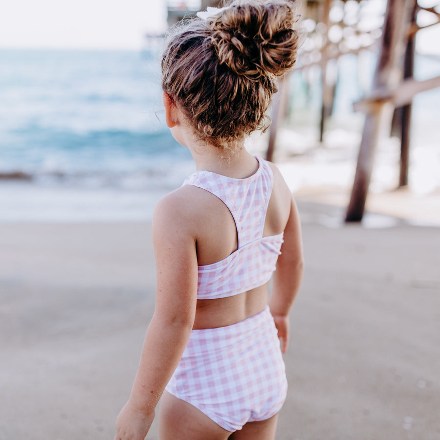 "Girl ""Tied with a Bow"" Halter Bikini 2 Piece Swimsuit Set - Multiple Colors - SwimZip Sun Protection Swimwear"
