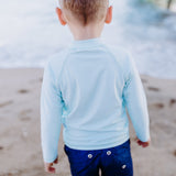 "Boy ""Catch a Wave"" Swim Trunks - Multiple Colors-SwimZip UPF 50+ Sun Protective Swimwear & UV Zipper Rash Guards-pos16"