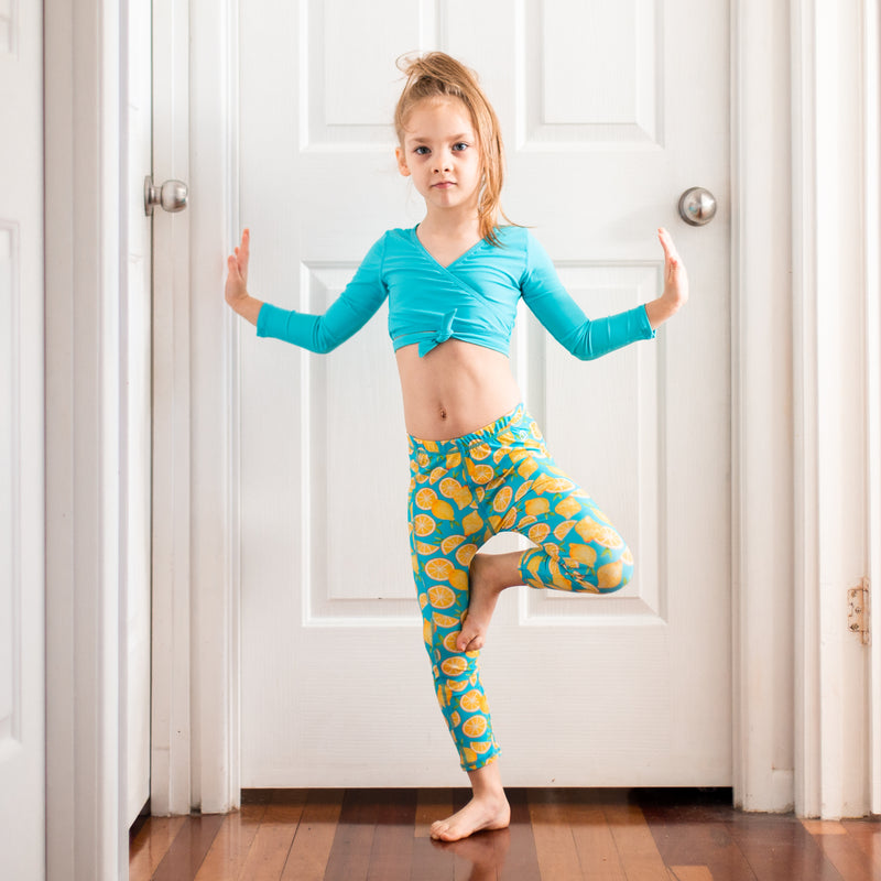 "Kid's Swim Pants - ""Lemons""-SwimZip UPF 50+ Sun Protective Swimwear & UV Zipper Rash Guards-pos7"