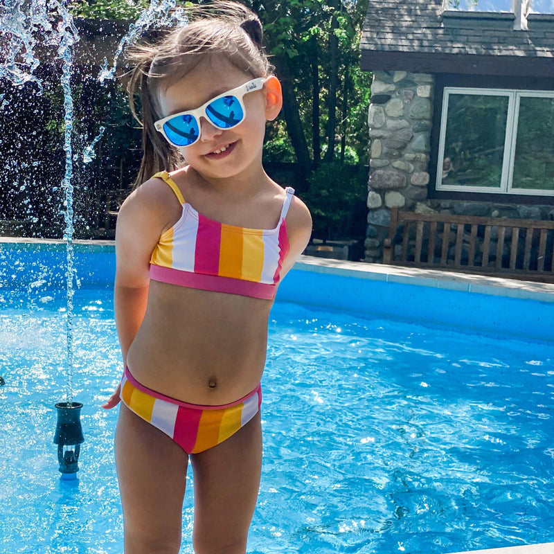 "Girl's Bikini Set (2 Piece) - ""Be Bold""-SwimZip UPF 50+ Sun Protective Swimwear & UV Zipper Rash Guards-pos4"