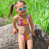 "Girl's Bikini Set (2 Piece) - ""Be Bold""-SwimZip UPF 50+ Sun Protective Swimwear & UV Zipper Rash Guards-pos5"