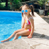 "Girl's Bikini Set (2 Piece) - ""Be Bold""-SwimZip UPF 50+ Sun Protective Swimwear & UV Zipper Rash Guards-pos6"
