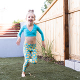 "Kid's Swim Pants - ""Lemons""-SwimZip UPF 50+ Sun Protective Swimwear & UV Zipper Rash Guards-pos12"