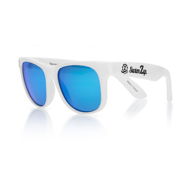 Sunglasses for Kids - White Wayfarer - SwimZip Sun Protection Swimwear