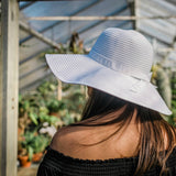Women's Wide Brim Sun Hat - White-Adult-White-SwimZip UPF 50+ Sun Protective Swimwear & UV Zipper Rash Guards-pos5