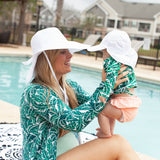 Women's Wide Brim Sun Hat (Multiple Colors)-SwimZip UPF 50+ Sun Protective Swimwear & UV Zipper Rash Guards-pos9