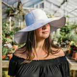 Women's Wide Brim Sun Hat - White-Adult-White-SwimZip UPF 50+ Sun Protective Swimwear & UV Zipper Rash Guards-pos6