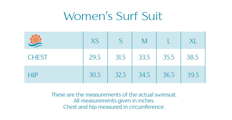 "Women's Long Sleeve Surf Suit (1 Piece Body Suit) - ""Palm Breeze"" - SwimZip Sun Protection Swimwear"