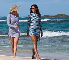 Womens Swim Dress Cover Up  sun swimzip