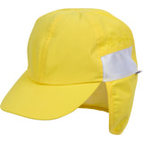 Kid's Flap Hat - UPF 50+ Adjustable Sun Hat - Multiple Colors-0-6 Month-Yellow-SwimZip UPF 50+ Sun Protective Swimwear & UV Zipper Rash Guards-pos9