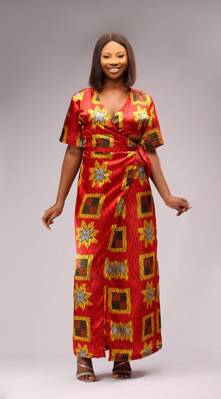 Saida Maxi Wrap Dress