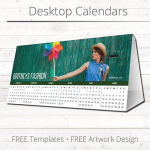 Desktop Tent Calendars : Includes Free Artwork Design & Delivery