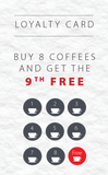 Coffee Cards : Includes Free Artwork Design & Delivery