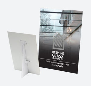 Mounted Counter Cards | Gloss or Matt Glazed | Mounted to Screen + Strut