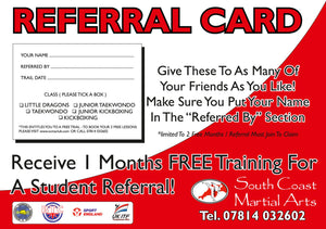 Referral Cards For Your Business. Everything Done For You Including Free Artwork and Delivery | 90x55mm