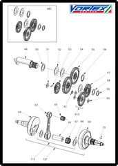 Vortex Rok Gp Crankshaft