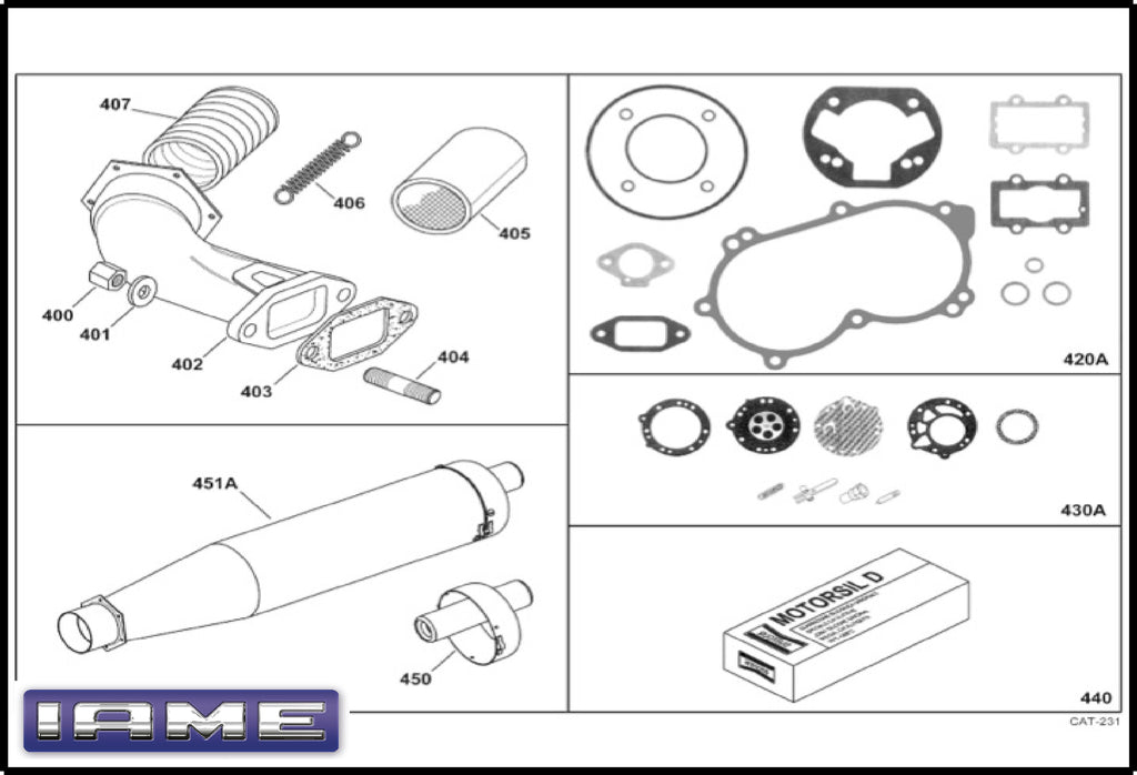 IAME X30 Exhaust Group
