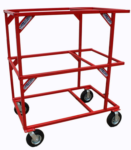Stackable 3-Tier Kart Stand (Red)