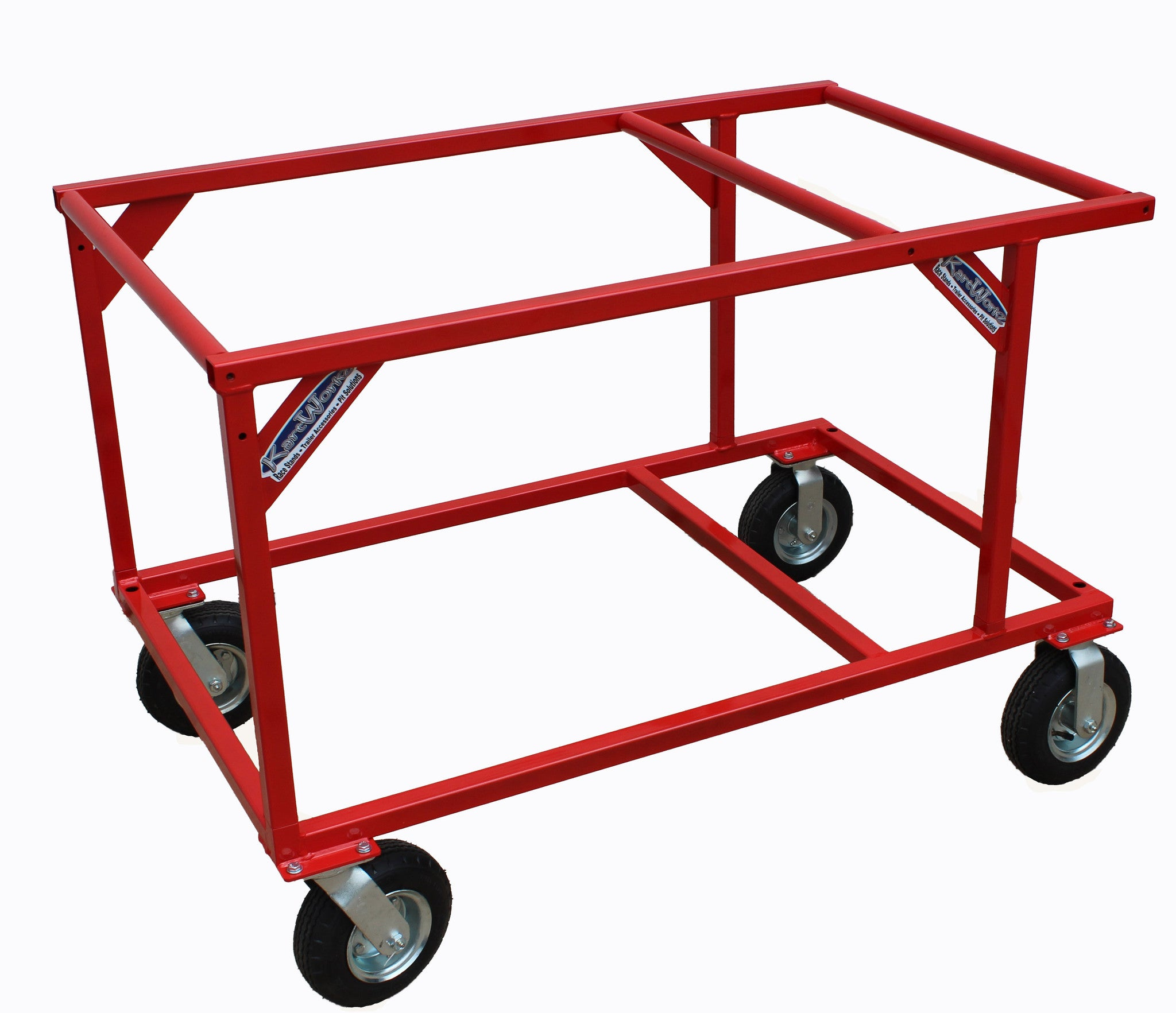 stackable-2-tier-kart-stand-red