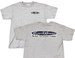 gray-KartWorkz-t-shirt-front-and-rear-view