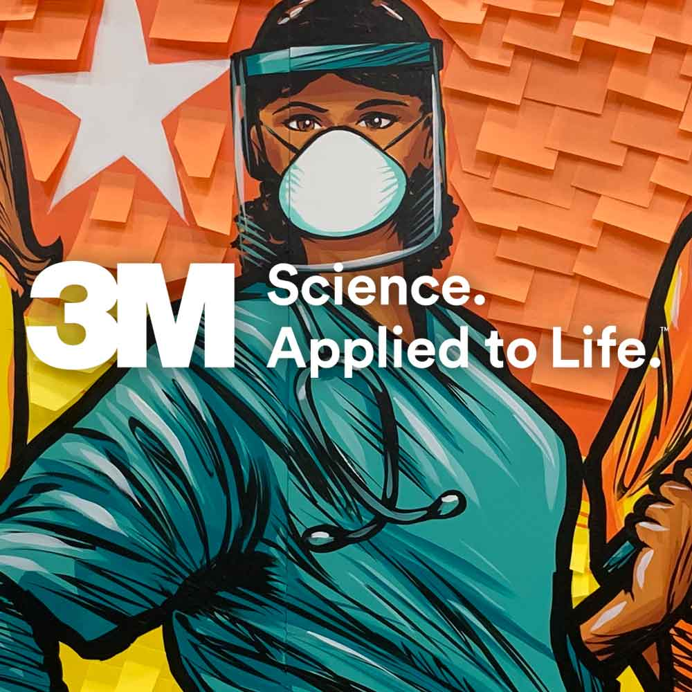 Adam Turman 3M Science Applied to Life Extreme Post-it Mural for 3M Open
