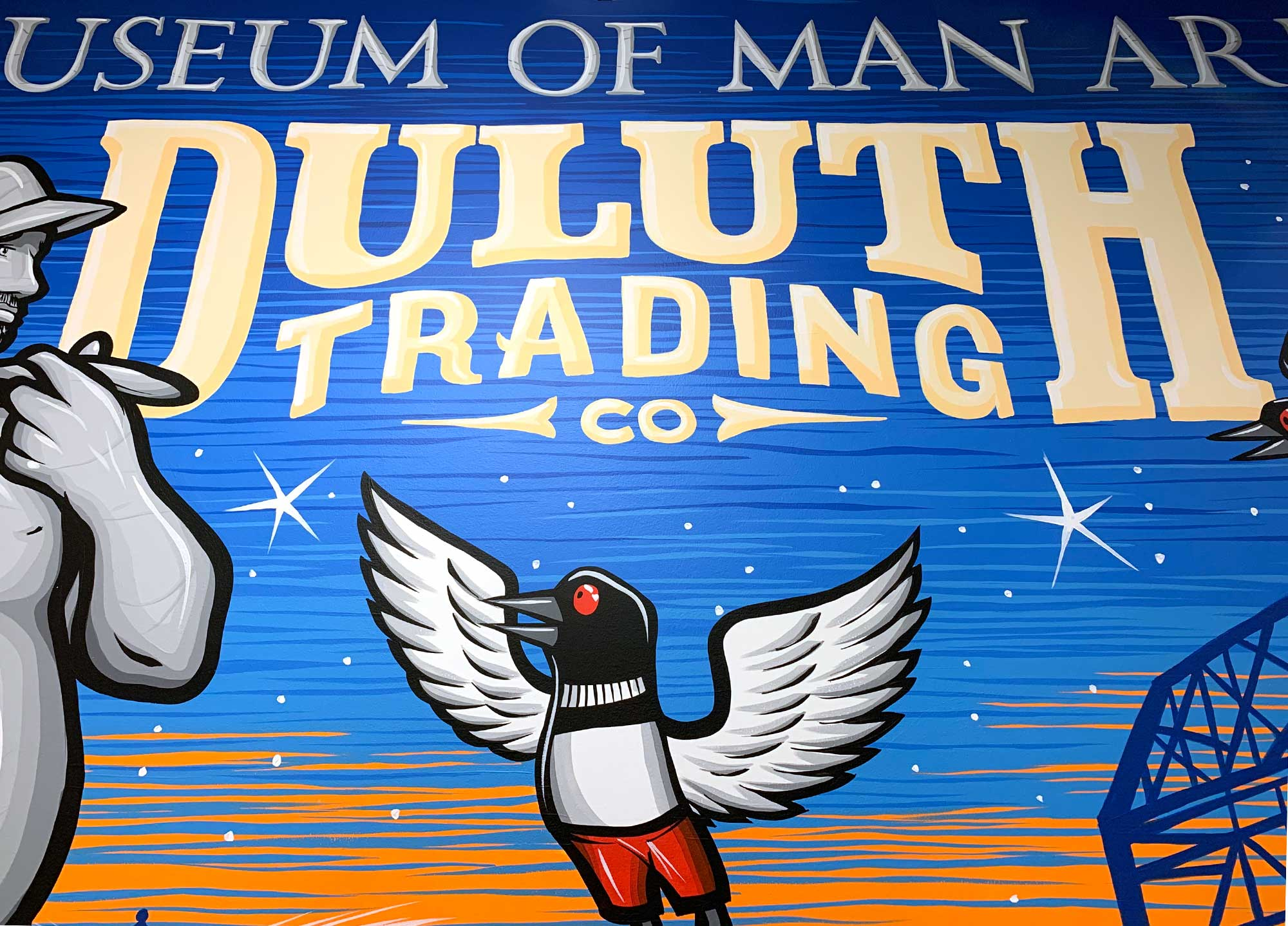 Duluth Trading Company Mall of America Logo Mural