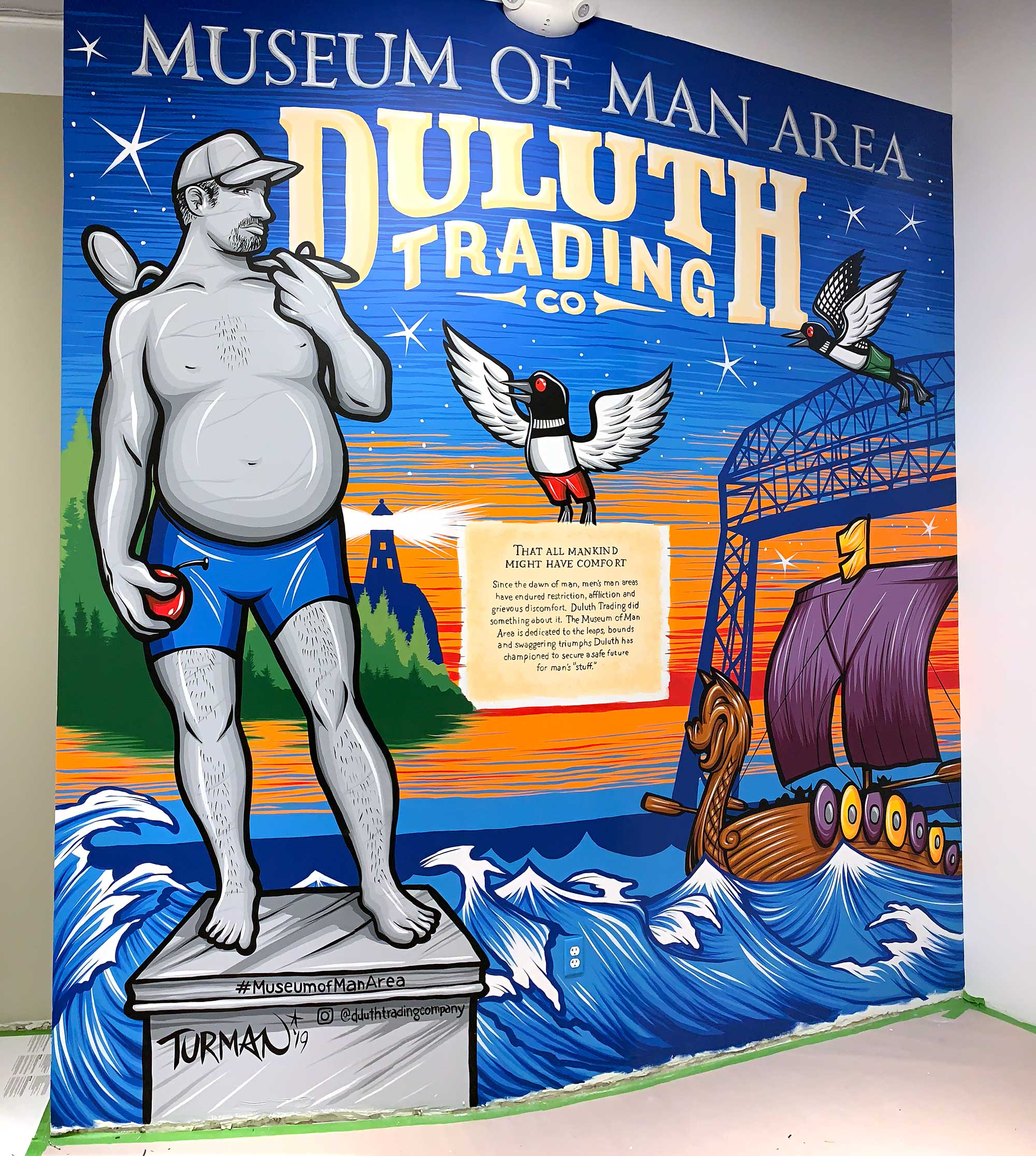 Duluth Trading Company Mall of America Mural Museum of Man