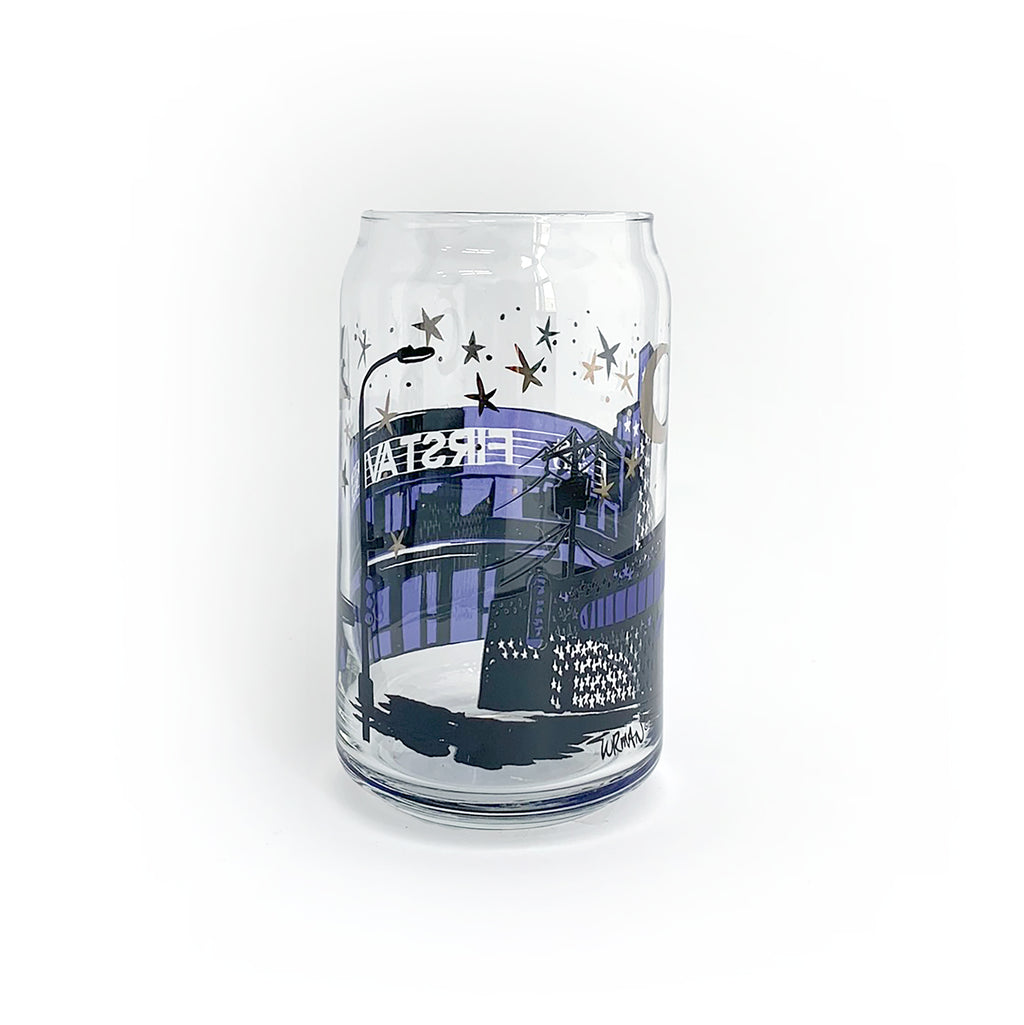 First Avenue Beer Can Glass