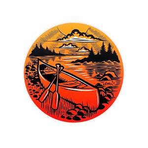 Outdoor Series Canoe Sticker