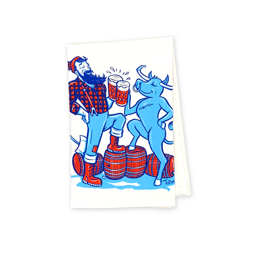 Paul & Babe Cheers Tea Towel
