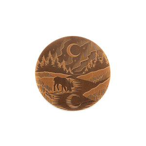 Turman x Leather Works MN Coasters - Tan
