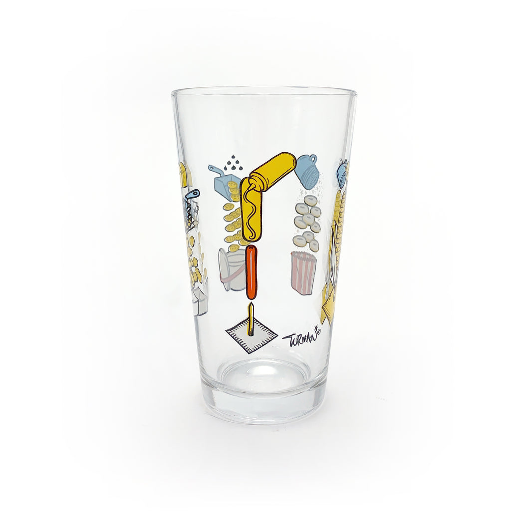 Exploding State Fair Food Pint Glass