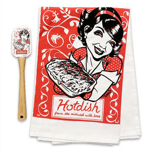 Hotdish Spatula and Tea Towel Set
