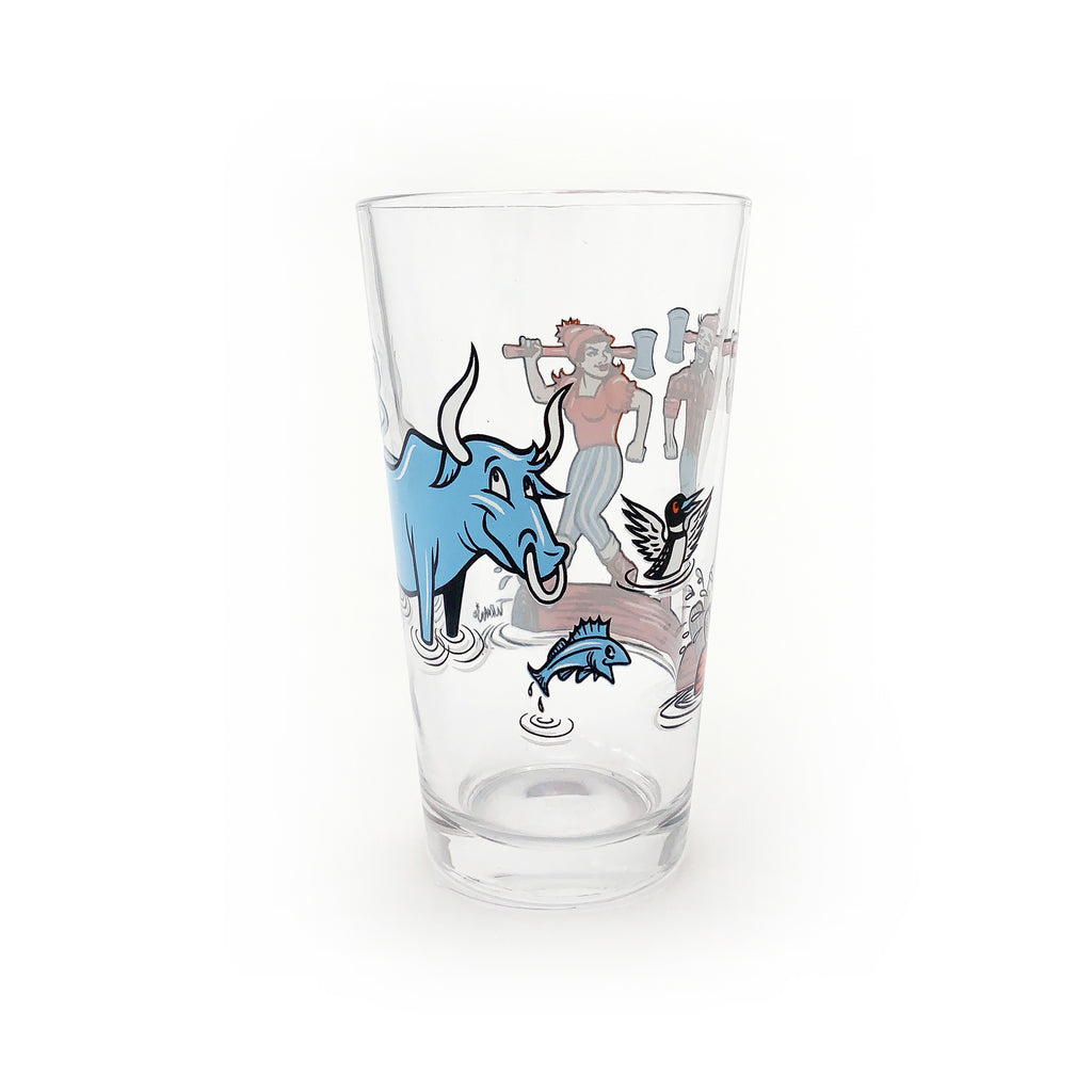 Log Rolling Pint Glass