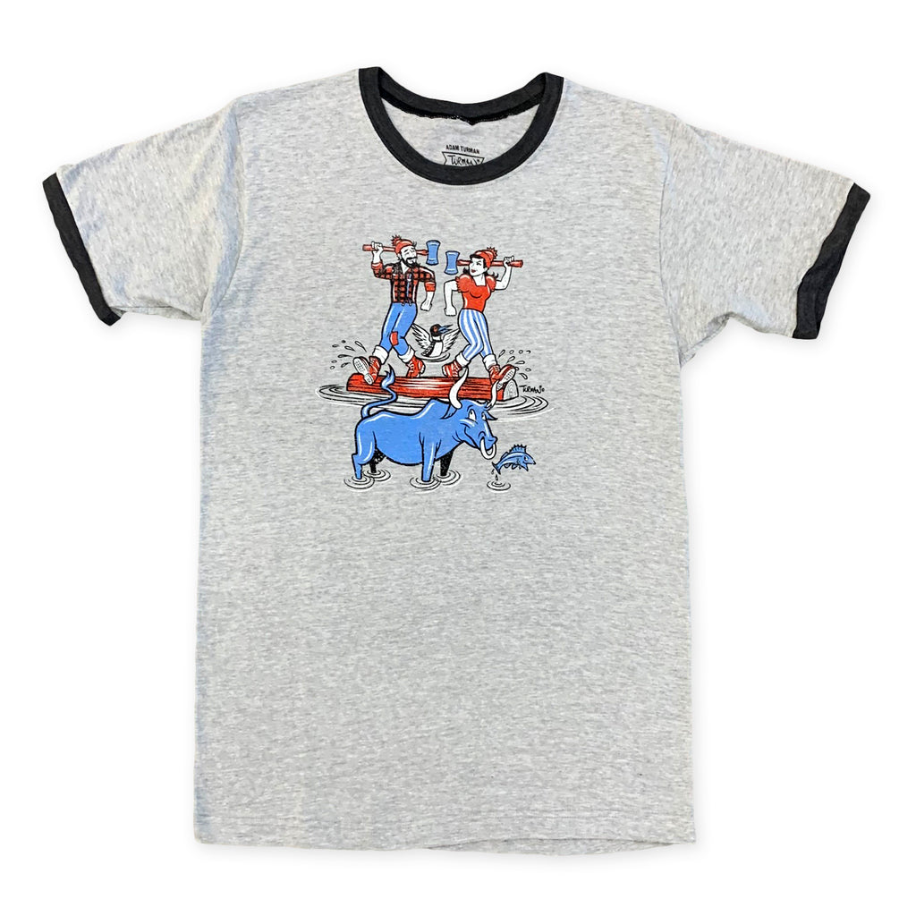 Paul, Babe and Lucette Log Rolling T-Shirt