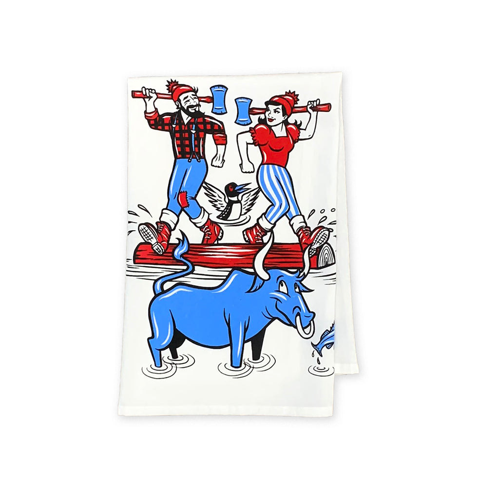 Log Rolling Tea Towel