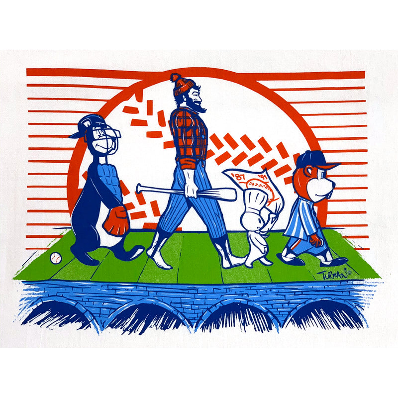MN Abbey Road Baseball Tea Towel