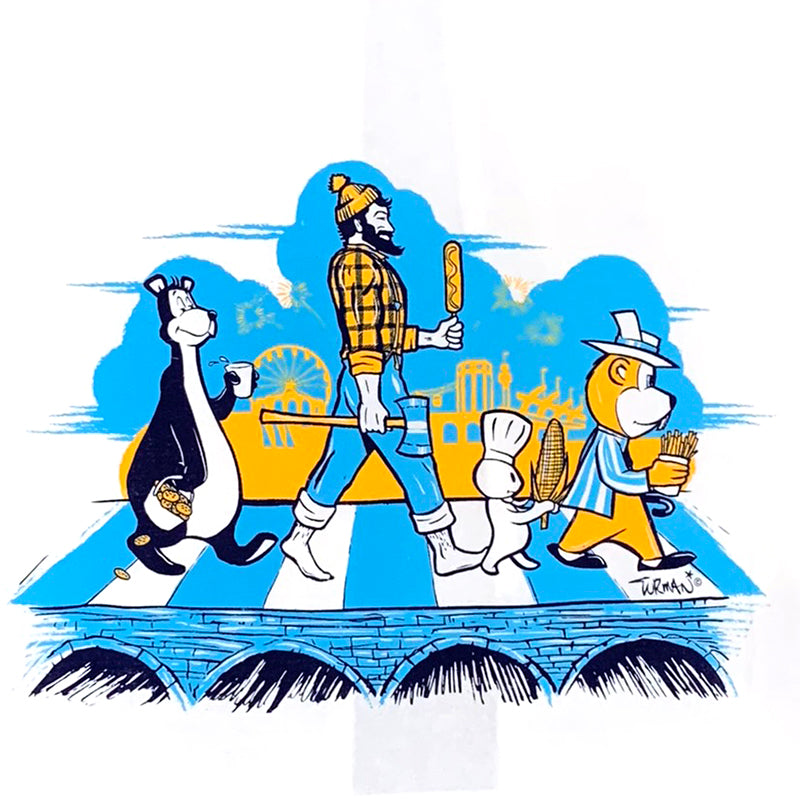 State Fair MN Abbey Road Tea Towel