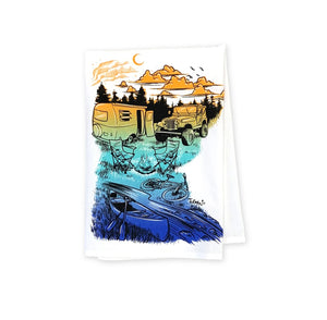 MN Camping Tea Towel