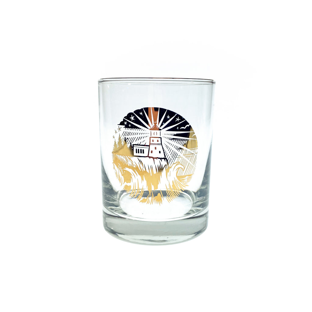 Lighthouse Whiskey Glass