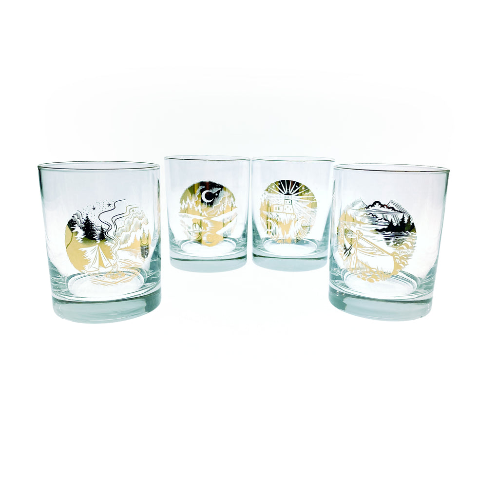 Moose 'n' Moon Whiskey Glass