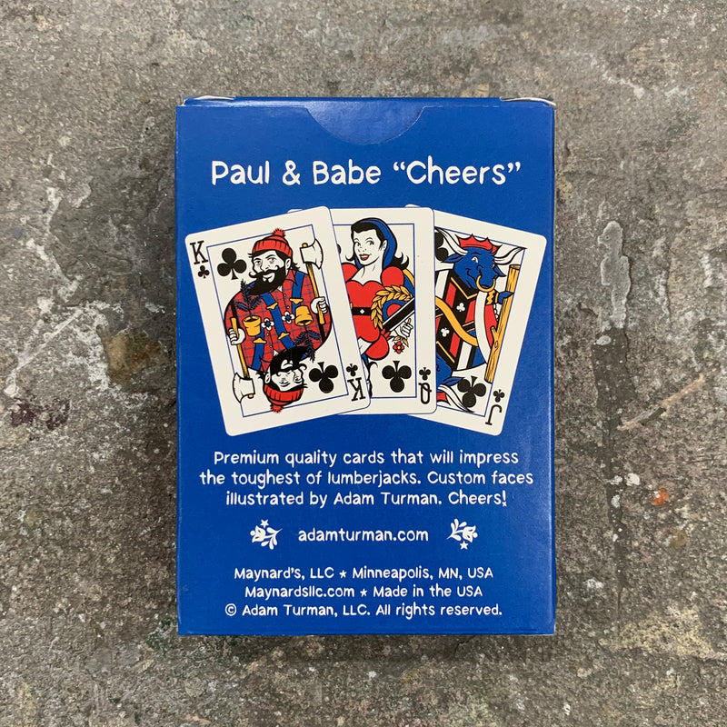 Paul & Babe, Cheers! Poker Cards