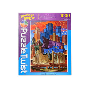 Moon Over Minneapolis - Downtown Puzzle