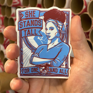 She Stands Tall Sticker
